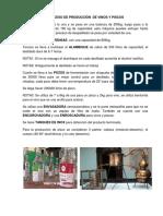 Proceso de Producción de Vinos y Piscos