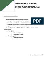 Complication Gastro de La Maladie Ulcero Gastro Fini