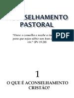 Aconselhamento Pastoral - Aula 03