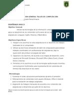 Planificacion Talller Computación
