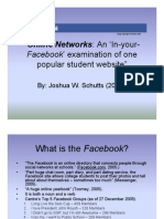 Online Networks Facebook