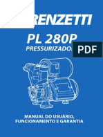 PRESSURIZADOR LORENZETTI pl280p