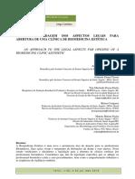 UMA ABORDAGEM DOS ASPECTOS LEGAIS PARA ABERTURA DE UMA CLÍNICA DE BIOMEDICINA ESTÉTICA