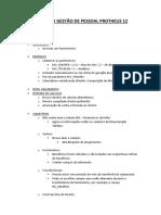 Overview Gestão de Pessoal Protheus 12