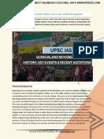 Current Affairs for IAS Exam (UPSC Civil Services) | gorkhaland movement  history, key events and recent agitations | Best Online IAS Coaching by Prepze