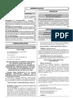 Ley que modifica el Decreto Legislativo N° 1133 Decreto Legislativo para el ordenamiento definitivo del Régimen de Pensiones del Personal Militar y Policial a fin de regular las pensiones de los pensionistas del Decreto Ley N° 19846