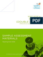 Wjec Gcse Science Double Sams From 2016 e