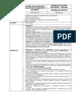 Procedimiento de Investigacion y Analisis de Accidentes y Cuasiaccidentes