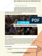 Current Affairs for IAS Exam (UPSC Civil Services) | Simultaneous elections in india | Best Online IAS Coaching by Prepze