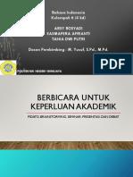 313368876 FIX MAKALAH Berbicara Untuk Keperluan Akademik Docx