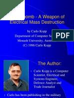 E Bomb Presentation IWC Washington DC 1996
