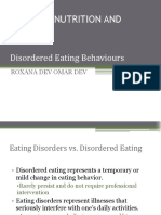 Disordered Eating vs Eating Disorder