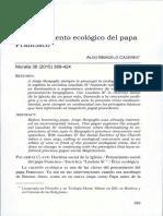 El pensamiento ecológico del papa Francisco