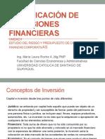 Planificacion de las Inversiones Financieras Unidad II MLRoche.pptx