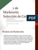 Modelo de Markowitks Seleccion de Cartera FC MLR 2017