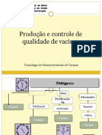 produção e controle de qualidade de vacinas