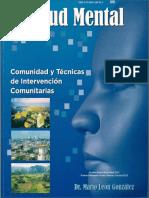 CD Salud Mental, Comunidad y Técnicas de Intervención Comunitarias
