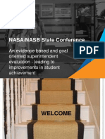 nasb conference - sup  evaluation