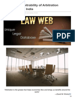 Lawweb.in-concept of Arbitrability of Arbitration Agreements in India