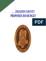2018 Livingston County Budget