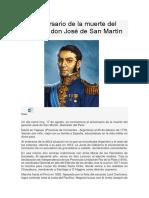 Aniversario de La Muerte Del General Don José de San Martín