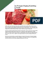 Hilangkan Bau Prengus Daging Kambing Pakai Bawang Putih