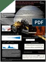 Musicalización de Ondas de Radio Detectadas Por Cassini Póster