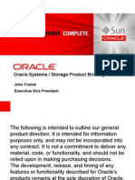 Oracle Systems Strategy Update Fowler