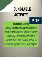 Roundtable English Activity