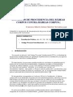Supuestos de Procedencia Del Hábeas Corpus Contra Hábeas Corpus