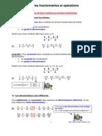opérations en écriture fractionnaire (5ème)