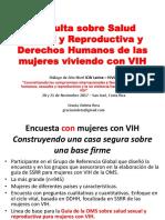 Resumen de Encuesta y Proceso de la Guía SSRR. Implicancias Para ALC, Dialogo Alto Nivel CR, ICW-HIVOS