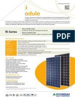 Hyundai RI Series 4BB Solar Panel Datasheet