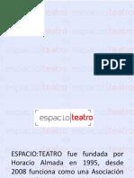 Espacio-Teatro presentación 1995-2014