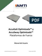 Manual de Usuario -Plataforma de Fuerza ACG y ACS Optimized - AMTI - ES
