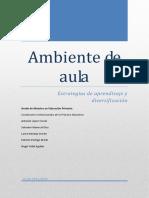 Ambiente de Aula Estrategias de Aprendizaje y Diversificacic3b3n