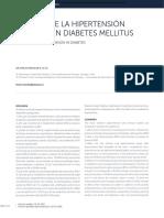 Manejo de La Hipertensión Arterial en Diabetes Mellitus