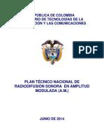 Plan Tecnico Nacional AM 16628