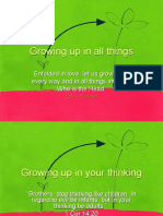 Growing Up in Your Thinking