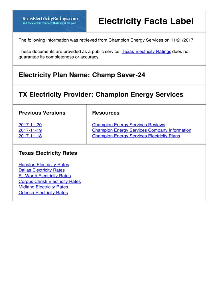 What Electric Company Services My Address