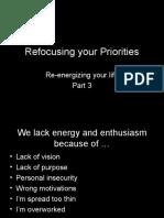 3 - Refocusing Your Life