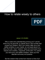 How to Relate Wisely to Others