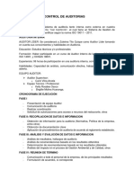 Evaluación y Control de Auditorias