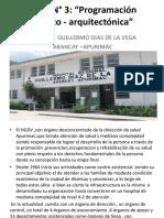 Tarea N° 3  PROGRAMA MEDICO ARQUITECTÓNICO HOSPITAL REGIONAL ABANCAY