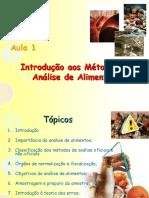 métodos de análises