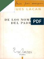 De Los Nombres Del Padre Jacques Lacan