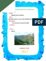 Criterios Para El Cálculo de Pendiente en Cuencas
