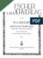 Mozart Wolfgang Amadeus Parto Ma Tu Ben Mio Act i de La Clemenza Di Tito 70768