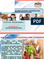 Exp.alimentacion Saludable en Base a Vitaminas en Grupos de Edades.