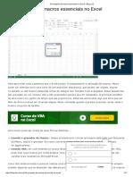 10 Exemplos de Macros No Excel